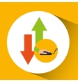 development app technology download upload vector image