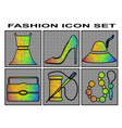 fashion icon set vector image