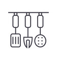 kitchenware kitchen accessories line icon vector image