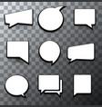 modern halftone bubble speech icon set vector image