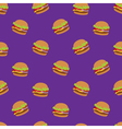 Seamless pattern with flat style burger image on vector image