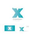 x blue letter alphabet logo icon design vector image