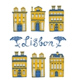Cute collection of typical Portuguese houses vector image