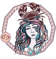 Zodiac signs Cancer vector image