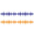 sound waves light effect music digital equalizer vector image