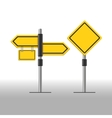 Road sign template vector image vector image