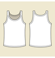 Blank singlet template vector image