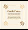 decorative frame with golden gradient vector image