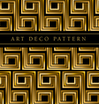 black and gold seamless pattern in ar deco style vector image