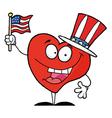 Heart In Patriotic Hat vector image