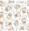 decorated bulldog pattern vector image