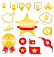 Design Elements with Stars vector image