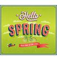 Hello spring typographic design vector image