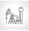 Oil extraction line icon vector image