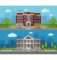 School Flat Banner vector image