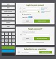 web design elements set2 vector image