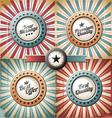 Retro and vintage backgrounds vector image