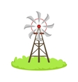 Energy Windmill Structure Cartoon Farm Related vector image