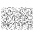 Beautiful White Wallpaper with Spiral Pattern Back vector image vector image
