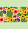 seamless floral pattern yellow sunflowers flower vector image vector image