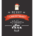 Merry Christmas decorative invitation card vector image vector image