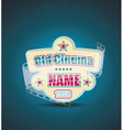 Old Cinema banner with stripe roll cinema vector image