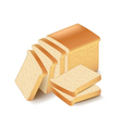 White bread sliced isolated on white vector image vector image