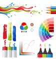 rgb color mode design elements vector image vector image