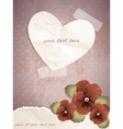 Romantic vintage with a paper heart vector image