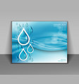 abstract blue background with water drops vector image