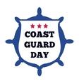 Coast Guard Day card vector image