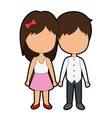cute couple just married vector image