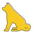 dog sitting animal domestic mammal vector image