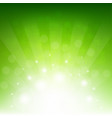 green sunburst eco background vector image