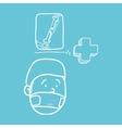 Medical care design health care icon sketch vector image