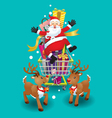 Santa Claus and Reindeer Christmas day vector image