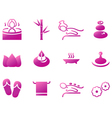 Wellness spa sauna and massage icons vector image