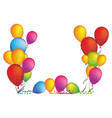 colored party balloon with serpentine icon vector image