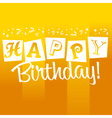 Yellow Birthday Greeting Card vector image