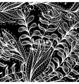 Seamless hand drawn black and white pattern vector image