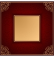 Royal luxury red invitation card with ornament vector image