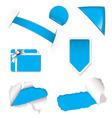 shop sale elements blue vector image