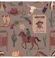 Wild West colored hand drawn pattern vector image vector image