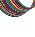 Smooth Wave Curve rainbow line background vector image