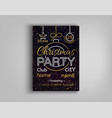 christmas party card flyer invitation vector image