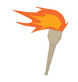 Fire torch vector image