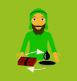 flat icon on theme arabic business arab vector image
