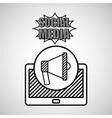 hand drawing megaphone social media mobile vector image