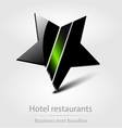 Hotel restaurants business icon vector image
