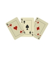 Playing cards flat vector image